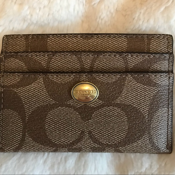 Coach bags monogrammed business card holder poshmark coach monogrammed business card holder colourmoves